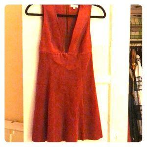 Wilfred aritzia orange faux suede mini dress 🧡